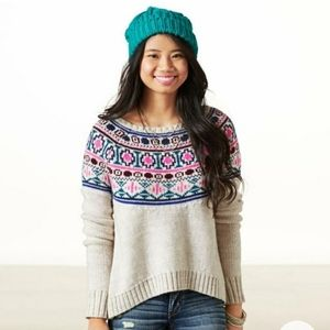 American Eagle Outfitters Fair Isle Sweater Small